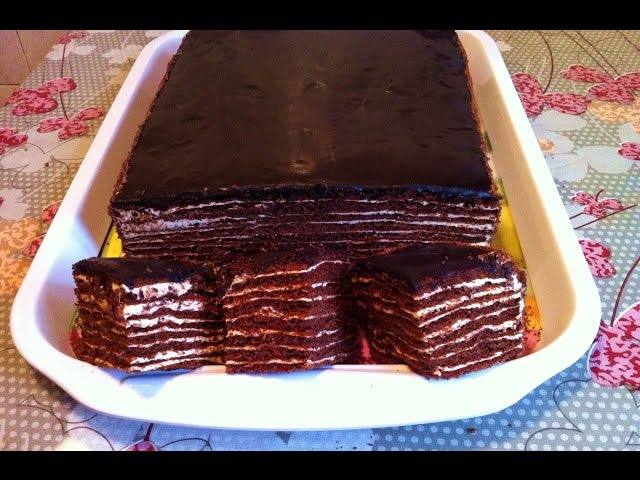 Торт спартак видео пошагово